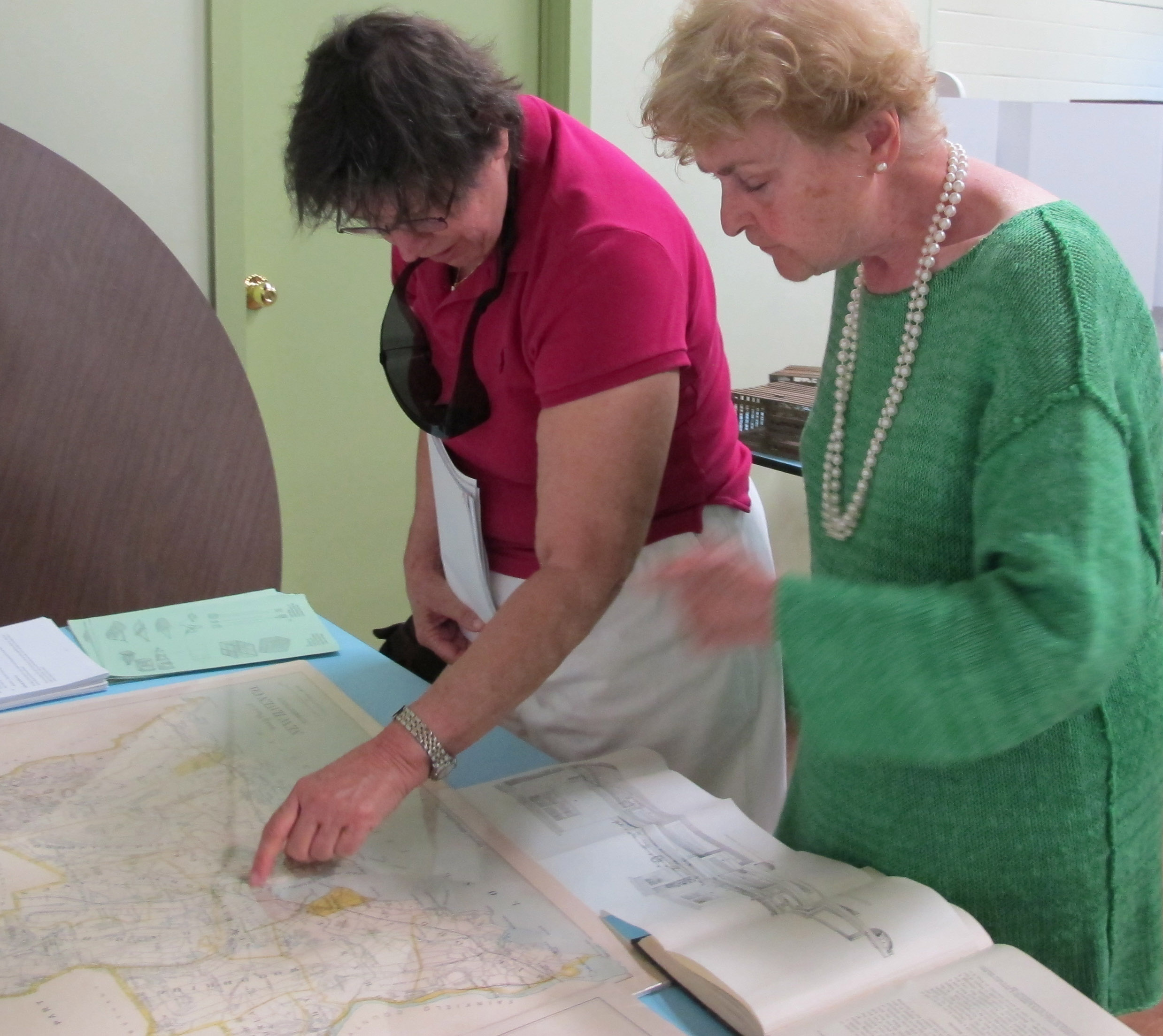 Looking at exhibits and maps